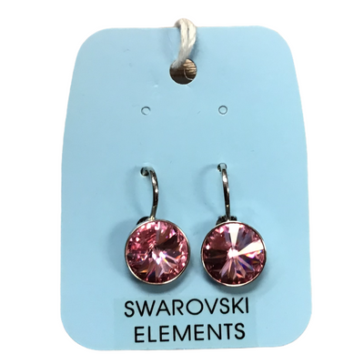 Swarovski pink medium Bella earrings