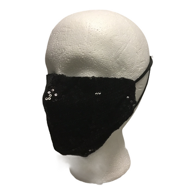 Black Mask with sequin embellishments