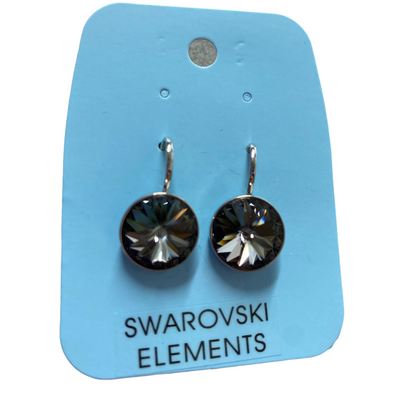 Swarovski Elements Medium Grey Bella Earrings