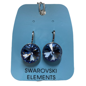 Swarovski Lg Ice Blue Bella Style Earrings