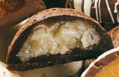 Coconut egg - cross-section