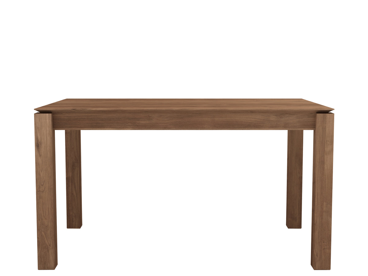 Teak Slice Extendable Dining Table