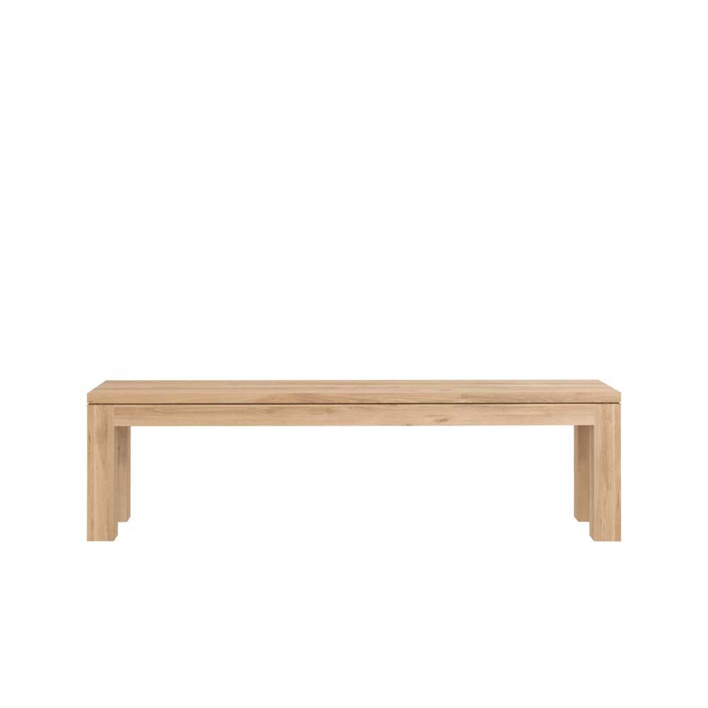 Oak Straight Bench