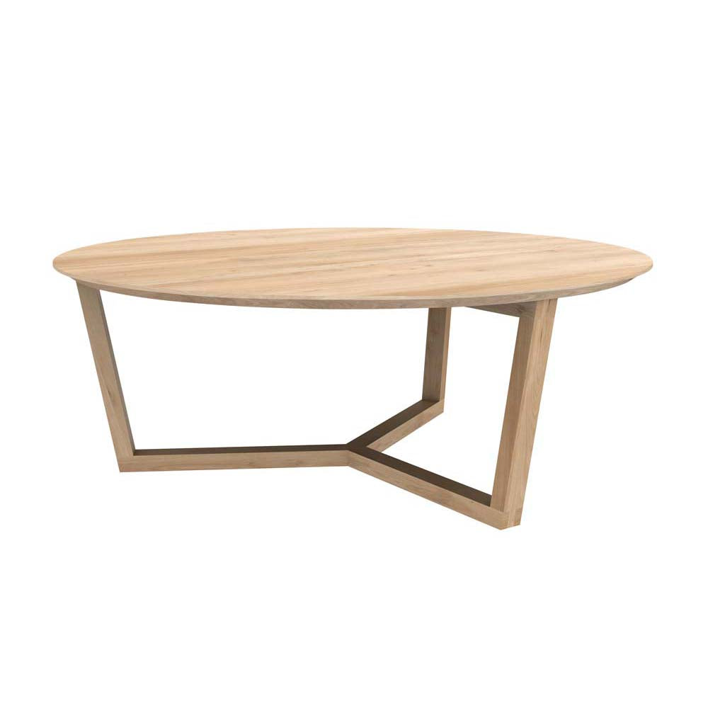 Oak Tripod Coffee Table - Varnished