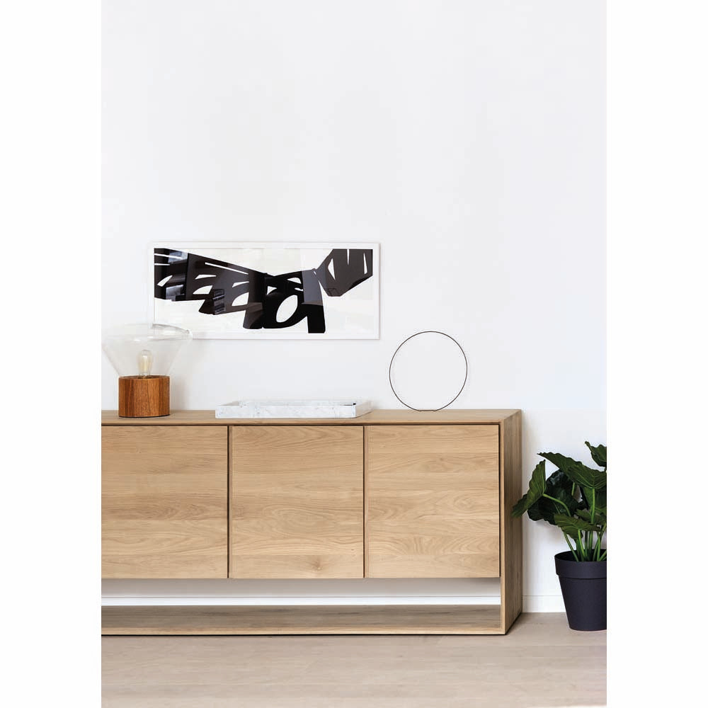 Oak Nordic Sideboard - 3 Doors