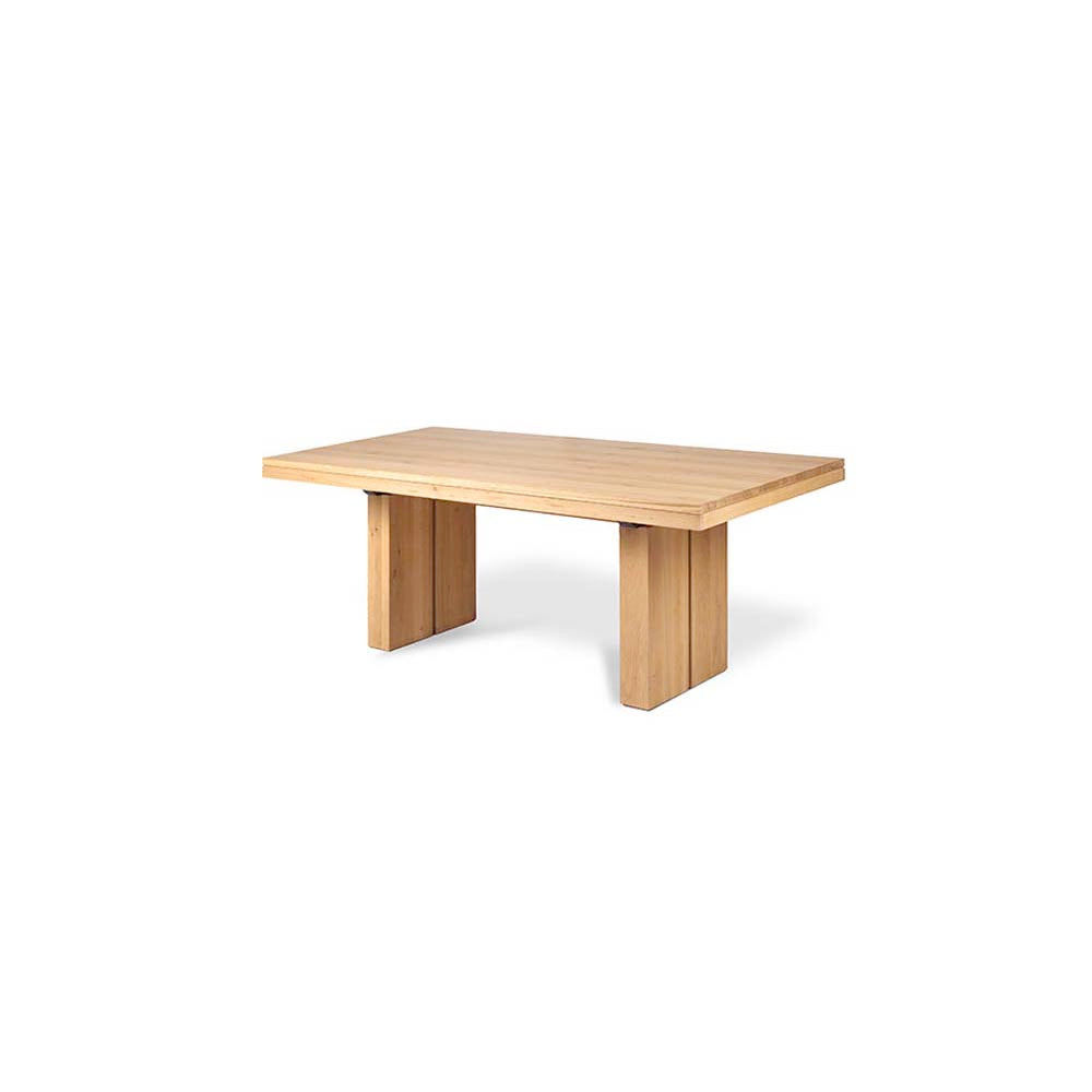 Oak Double Extendable Dining Table