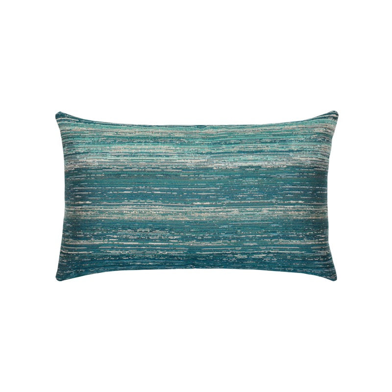 Textured Lagoon Indoor/Outdoor Lumbar Pillow