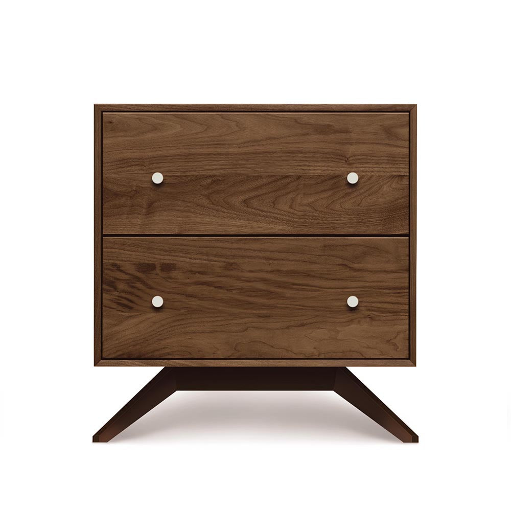 Astrid 2 Drawer Nightstand - Dark Walnut