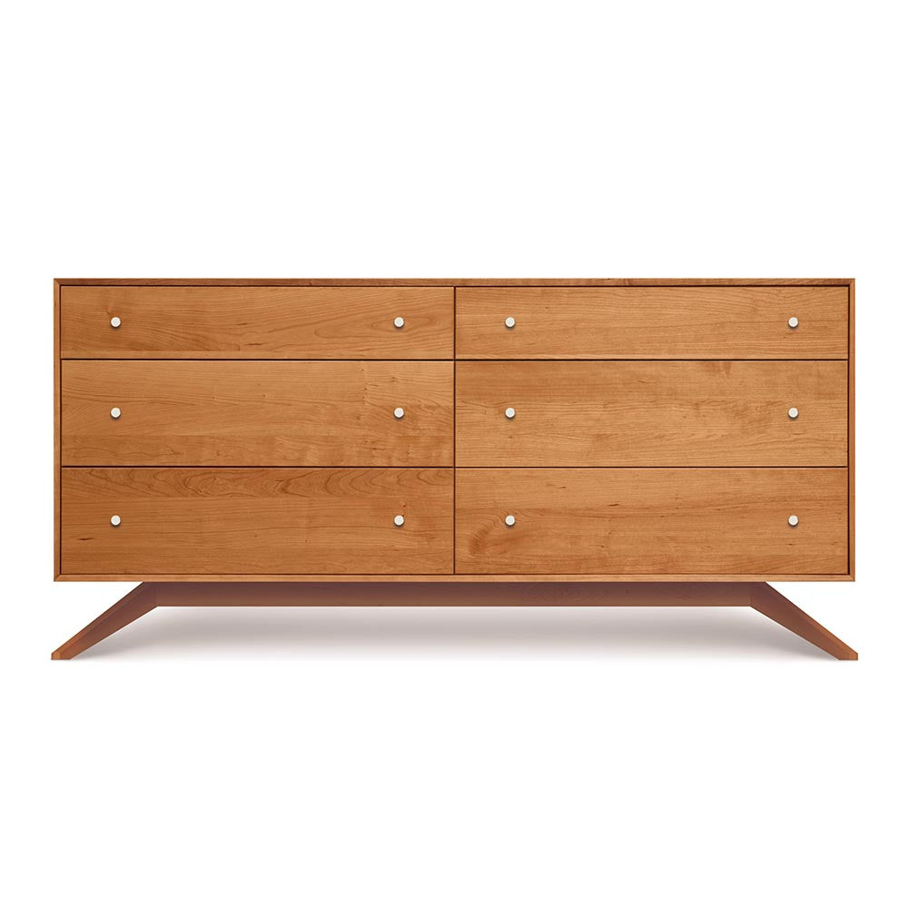 Astrid 6 Drawer Dresser - Natural Cherry