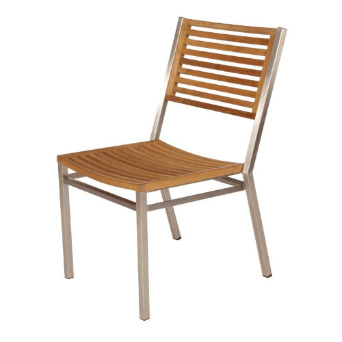 Equinox Stacking Side Chair - Teak