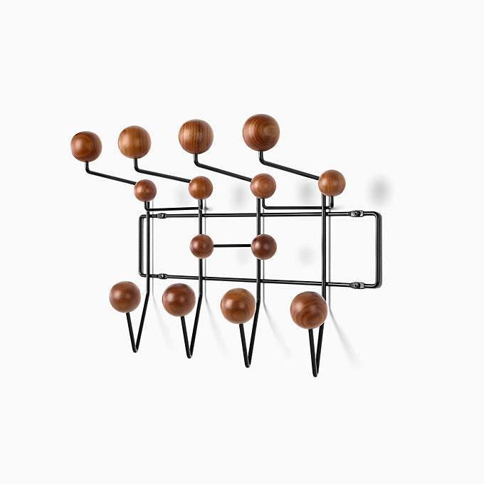Eames Hang-It-All Walnut with Black Frame