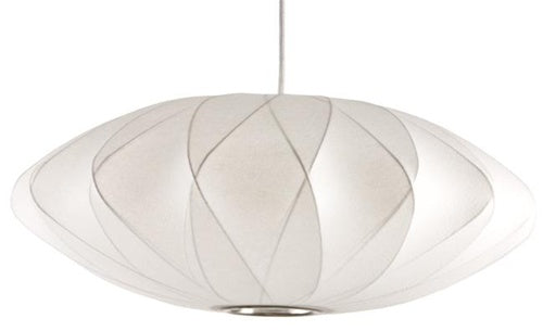 nelson bubble lamp - criss cross saucer pendant