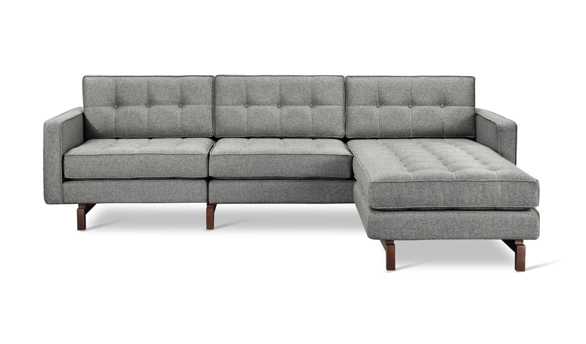 Jane 2 LOFT Bi-Sectional Sofa - Walnut Base