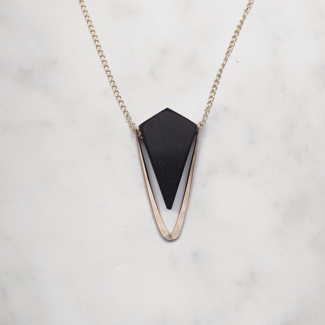 Pyramid Necklace - 14k Gold Fill