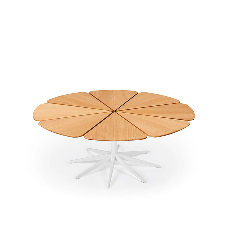 Petal Coffee Table with Teak Top By Richard Schultz