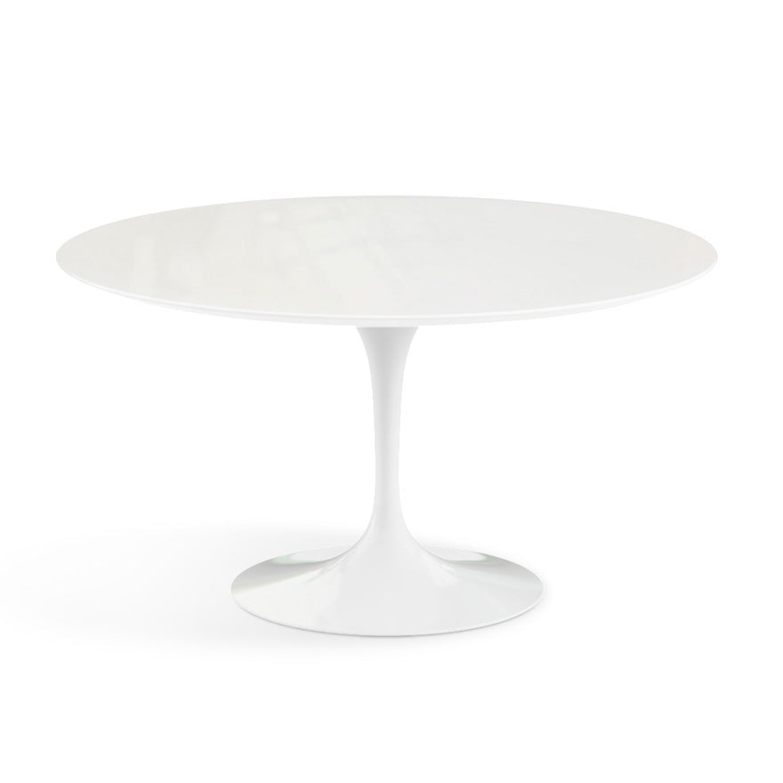 "Saarinen Outdoor 54"" Dining Table Vetro Bianco Top"