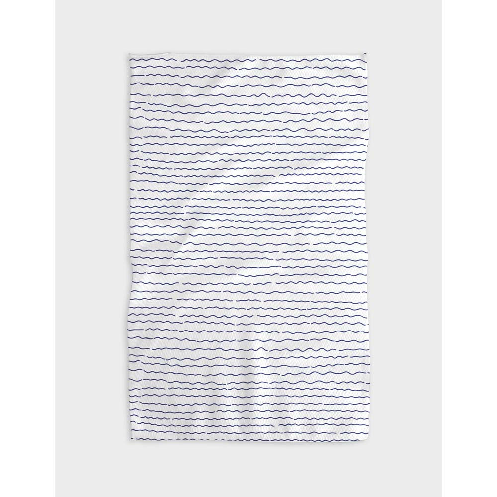 Simple Waves Tea Towel
