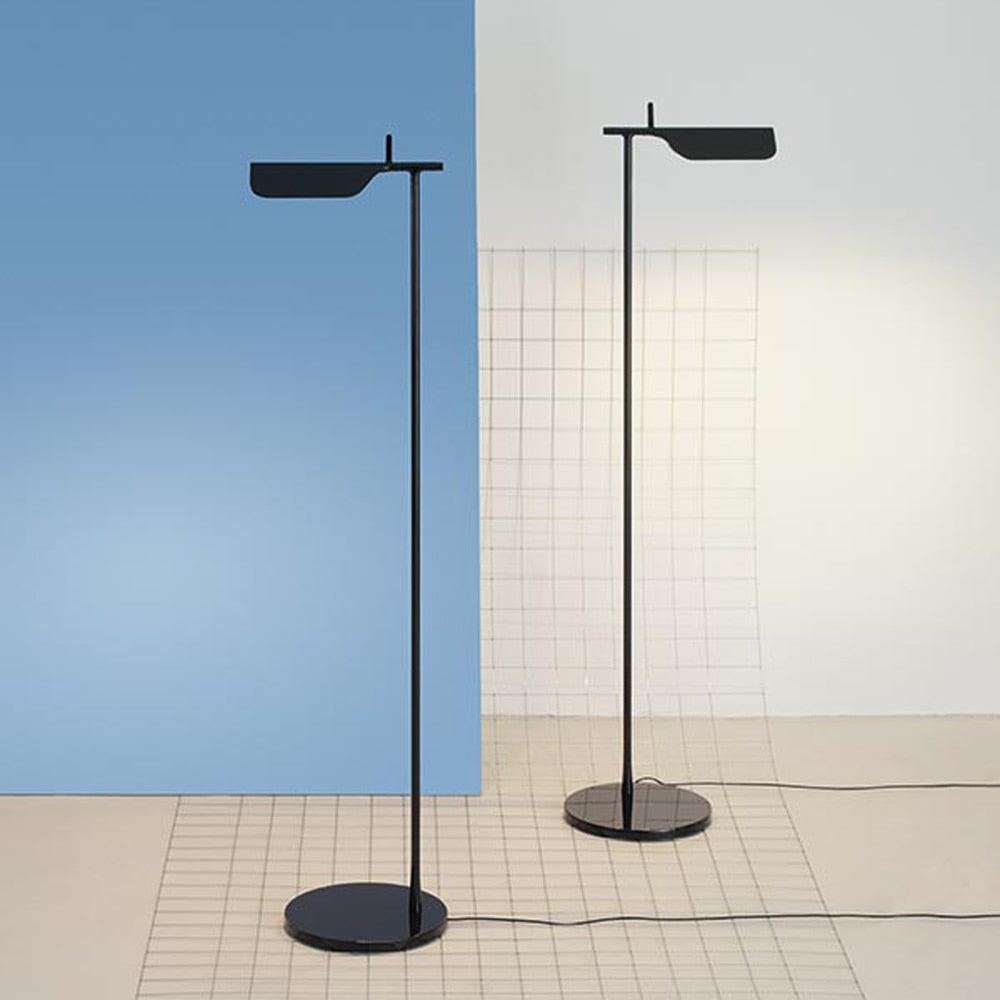 Tab Floor LED Lamp 45° Rotatable Head in White or Black