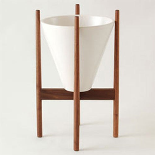 S2 Planter with Walnut Stand