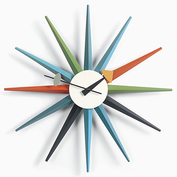 nelson sunburst clock multicolored
