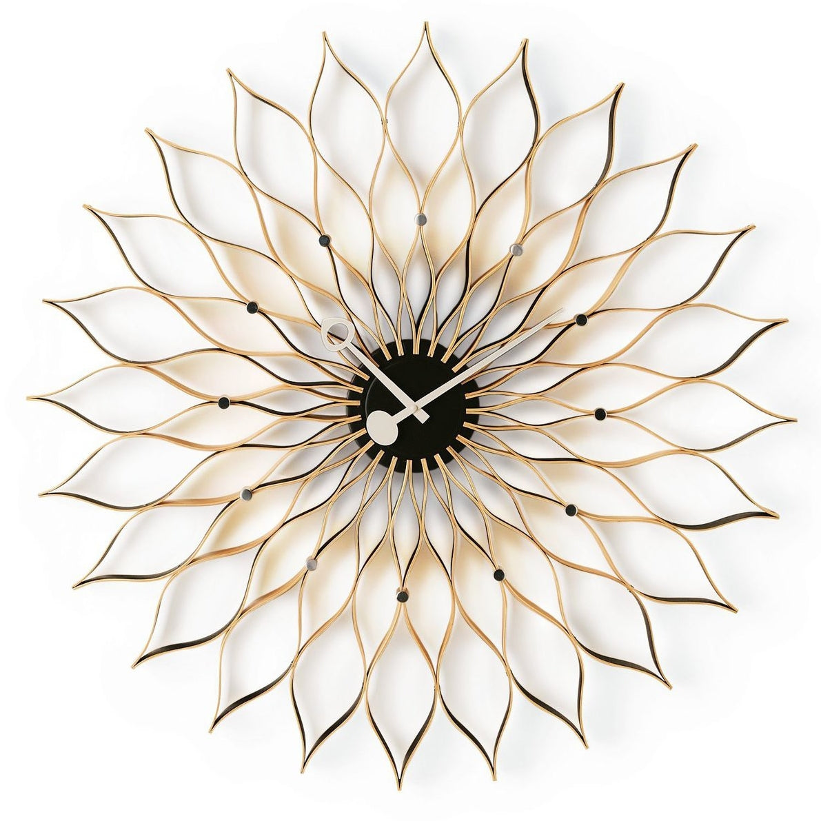nelson sunflower clock birch