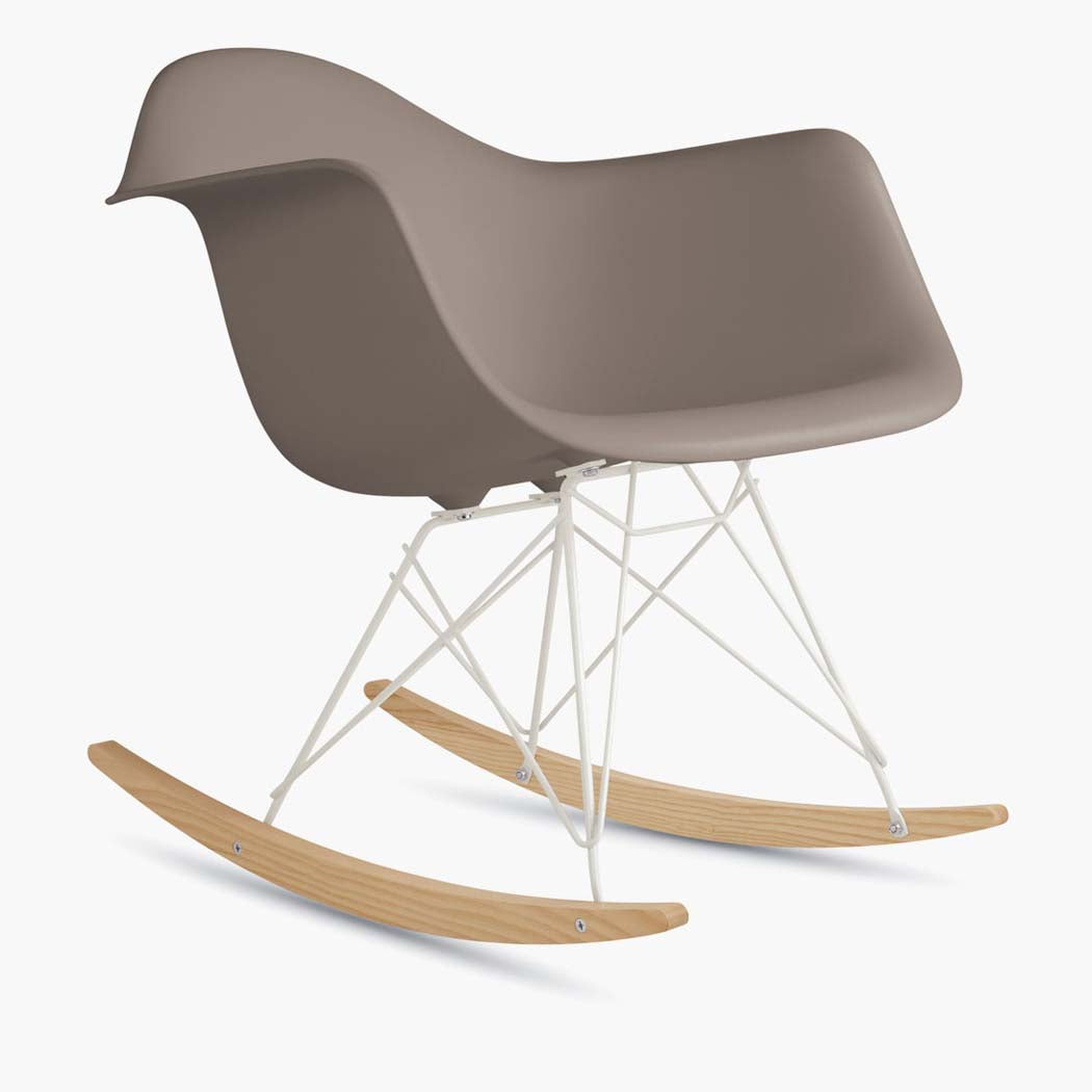 Eames Molded Plastic Armchair, Rocker Base - Sparrow Shell