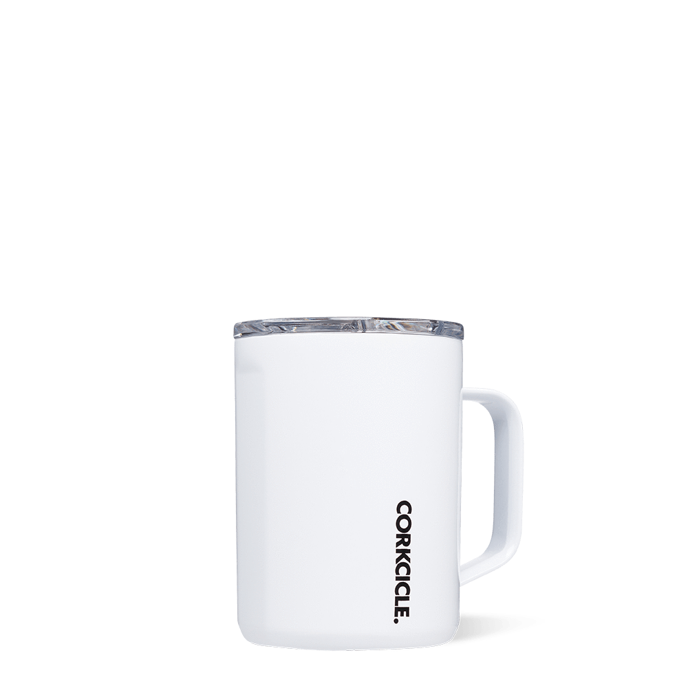 Insulated 16 oz Coffee Mug Gloss White