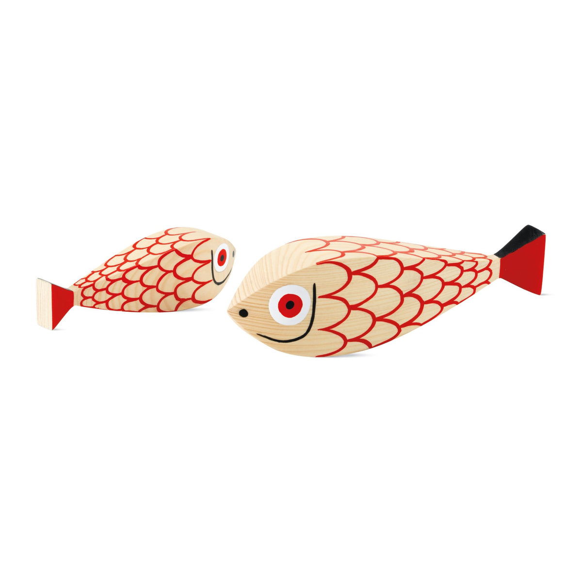 Wooden Mother Fish & Child, Set of 2