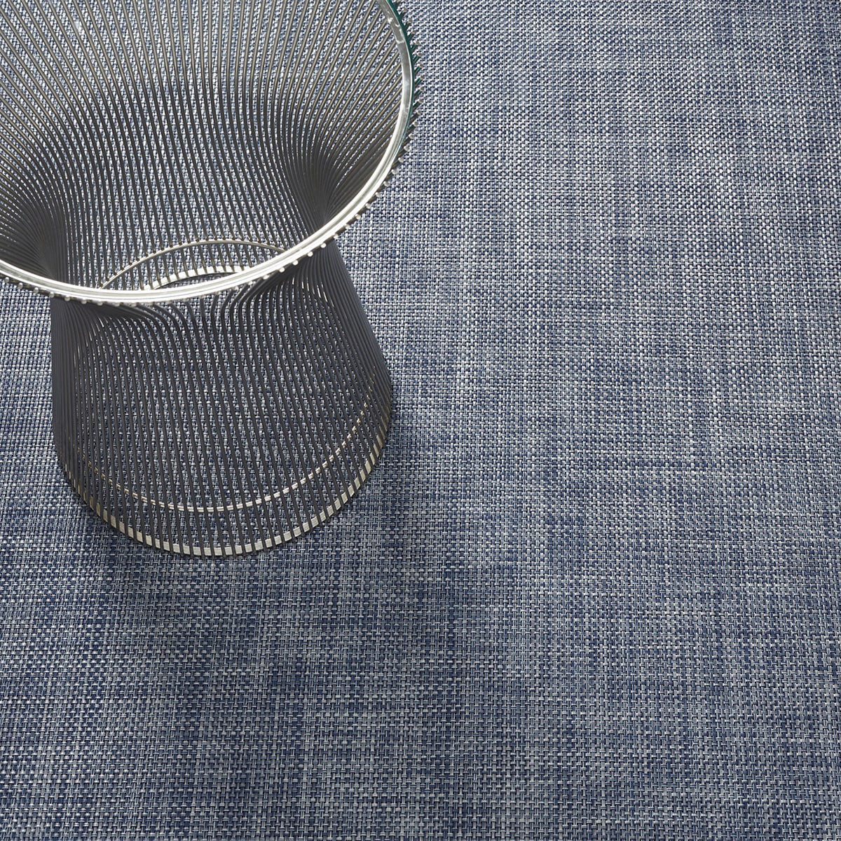 Basketweave Floor Mat in Denim