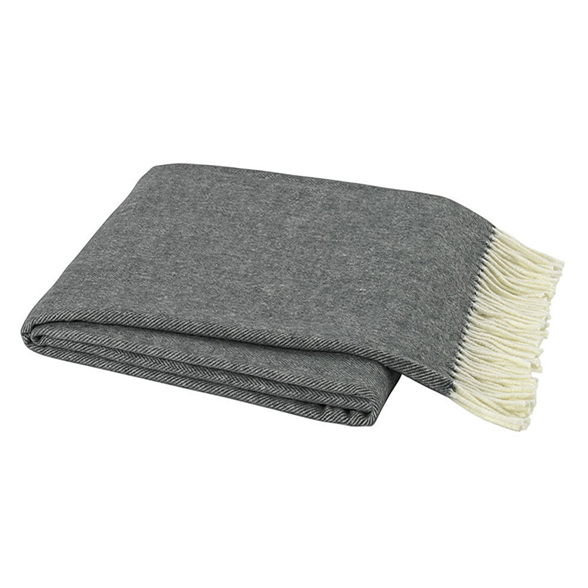 Herringbone Throw - Charcoal