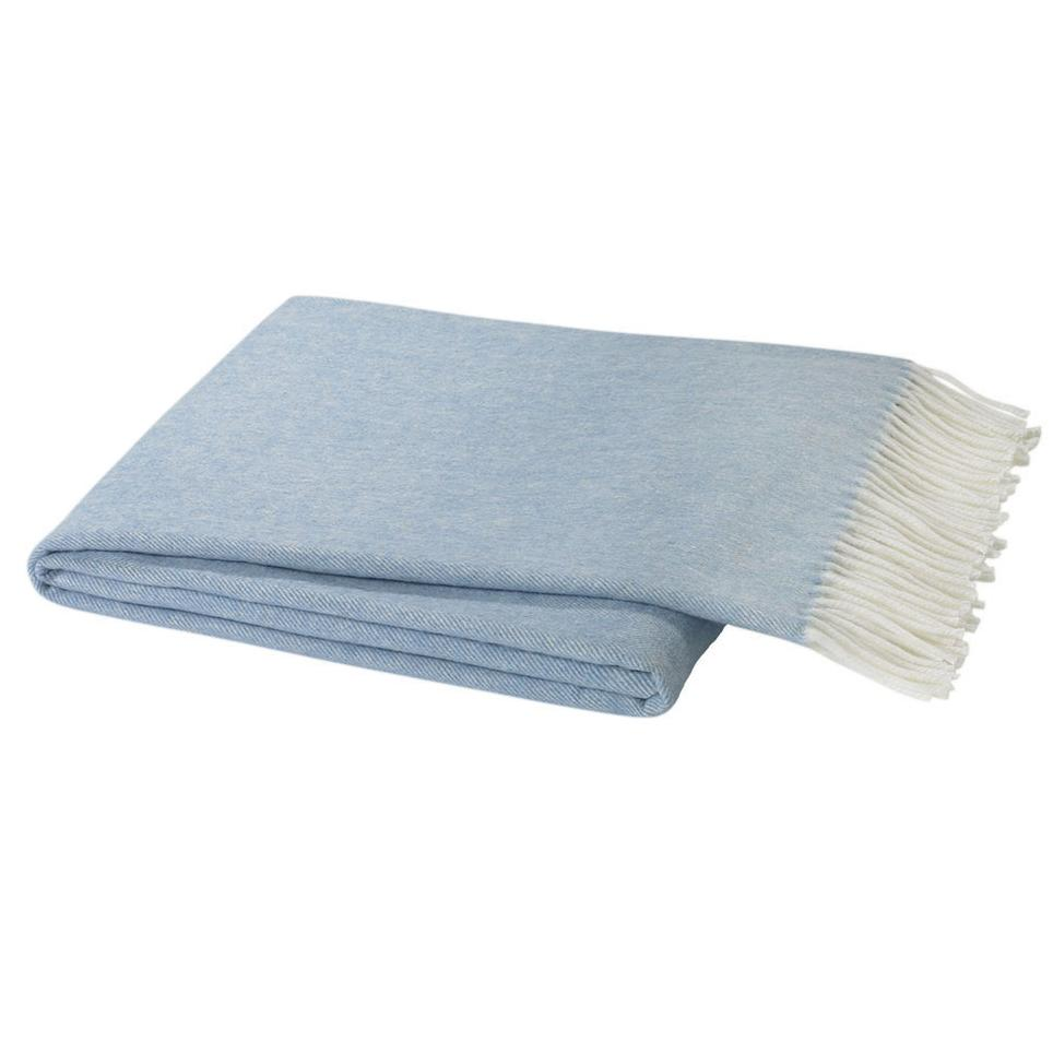 Herringbone Throw - Denim