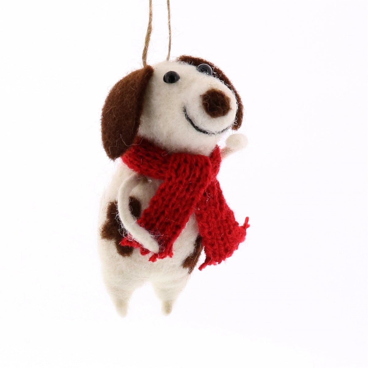 FELT DOG WITH SCARF