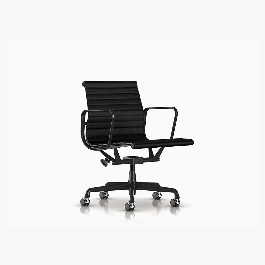 Eames Aluminum Group Management Chair - Black Frame