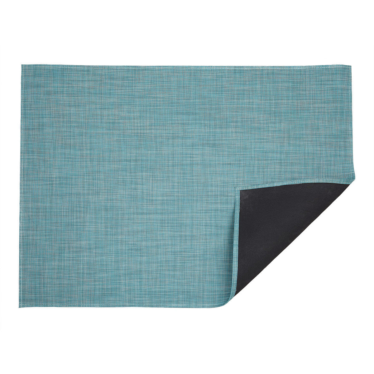 Mini Basketweave Floor Mat in Turquoise