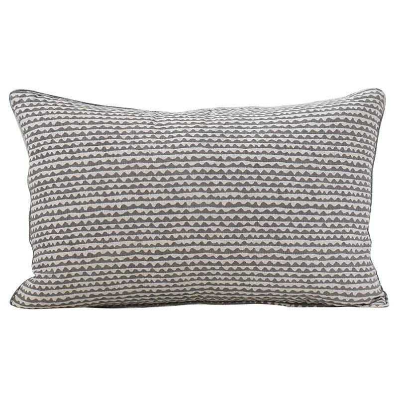 "Mizu Mud Linen Lumbar Pillow - 14"" x 22"""