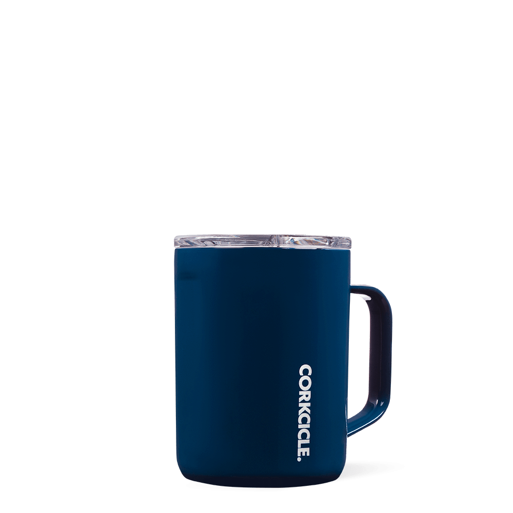 Insulated 16 oz Coffee Mug Gloss Navy