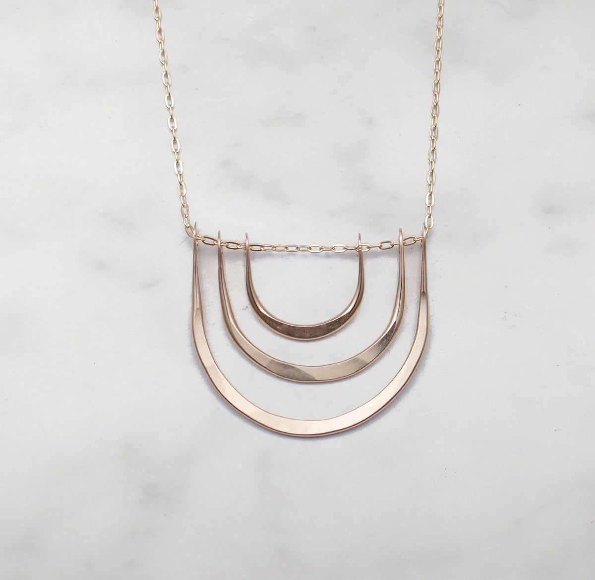 Triple Arc Necklace - Sterling Silver
