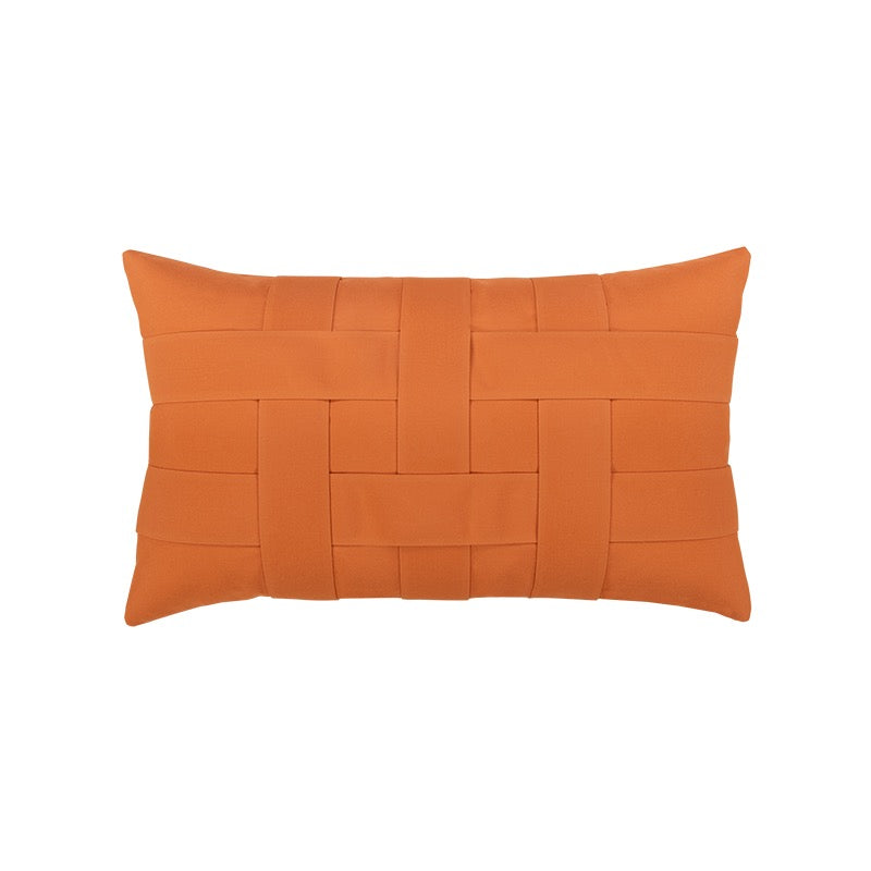 Basketweave Indoor/Outdoor Lumbar Pillow