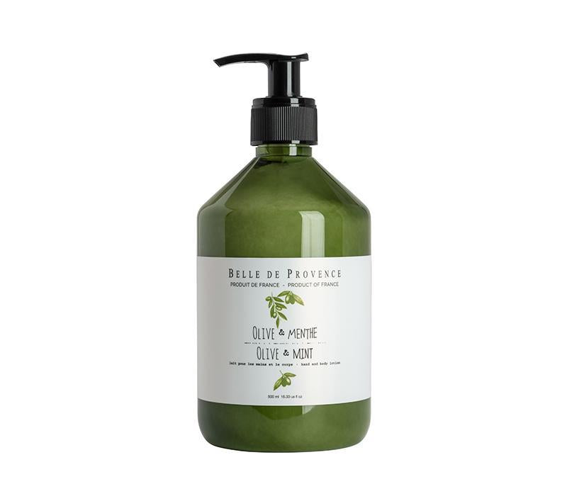 Belle de Provence Olive & Mint 500mL Hand and Body Lotion