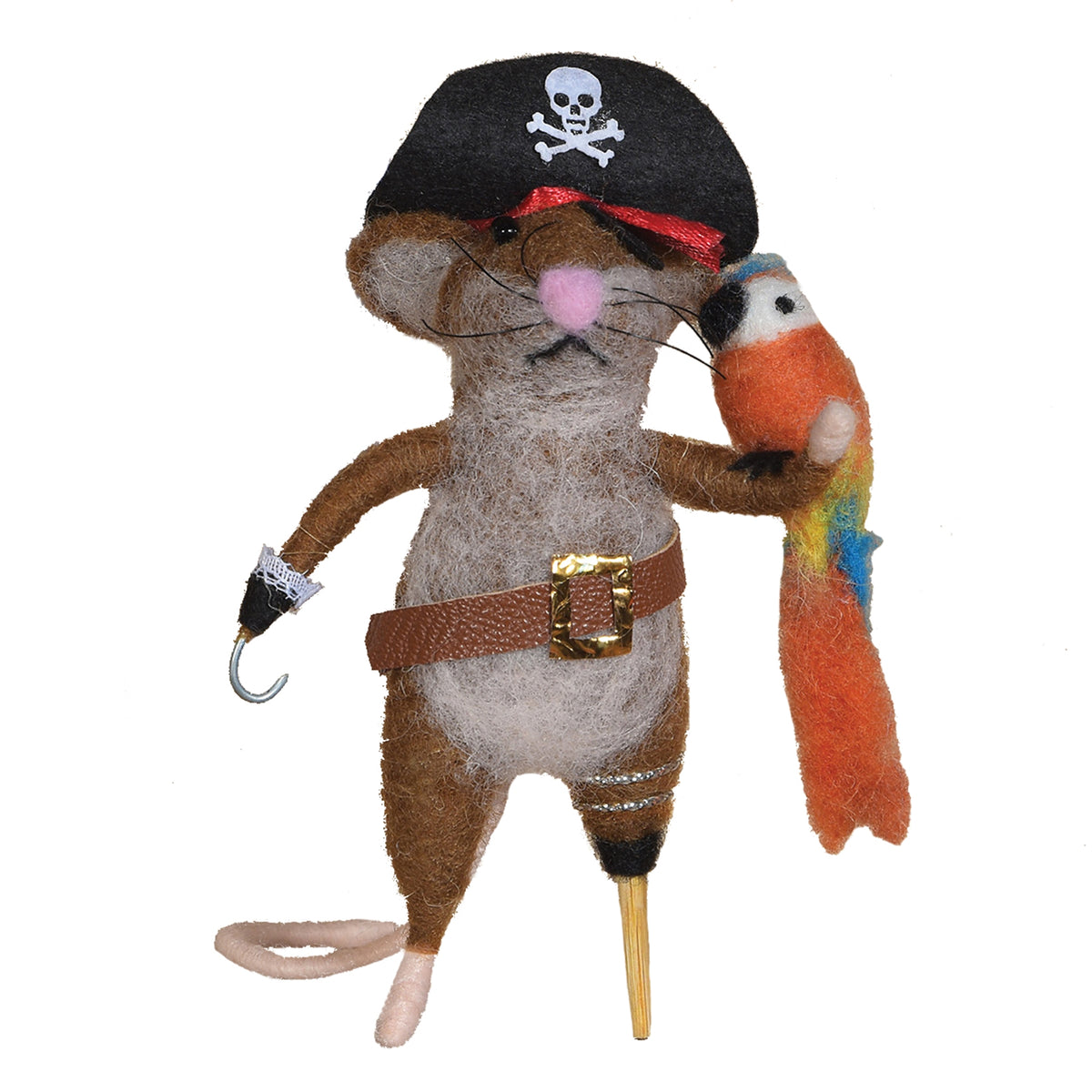 FELT PIRATE MOUSE ORNAMENT