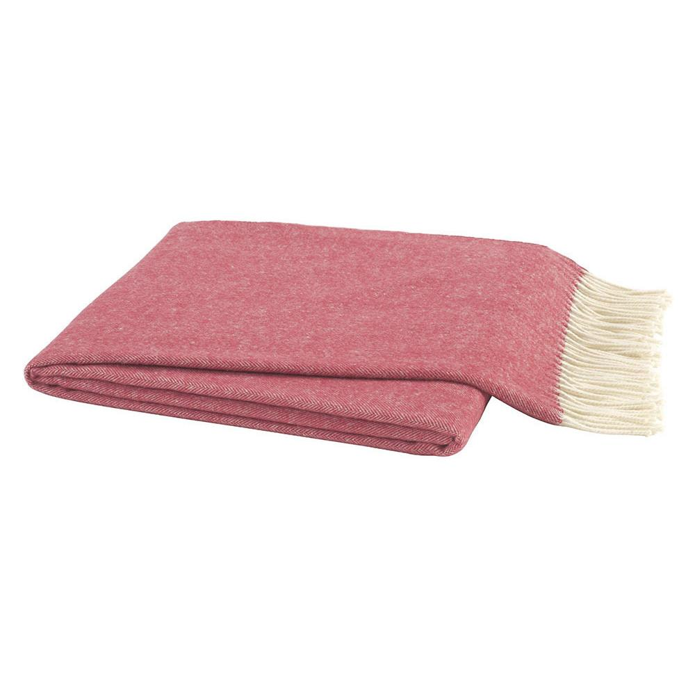 Herringbone Throw - Rose