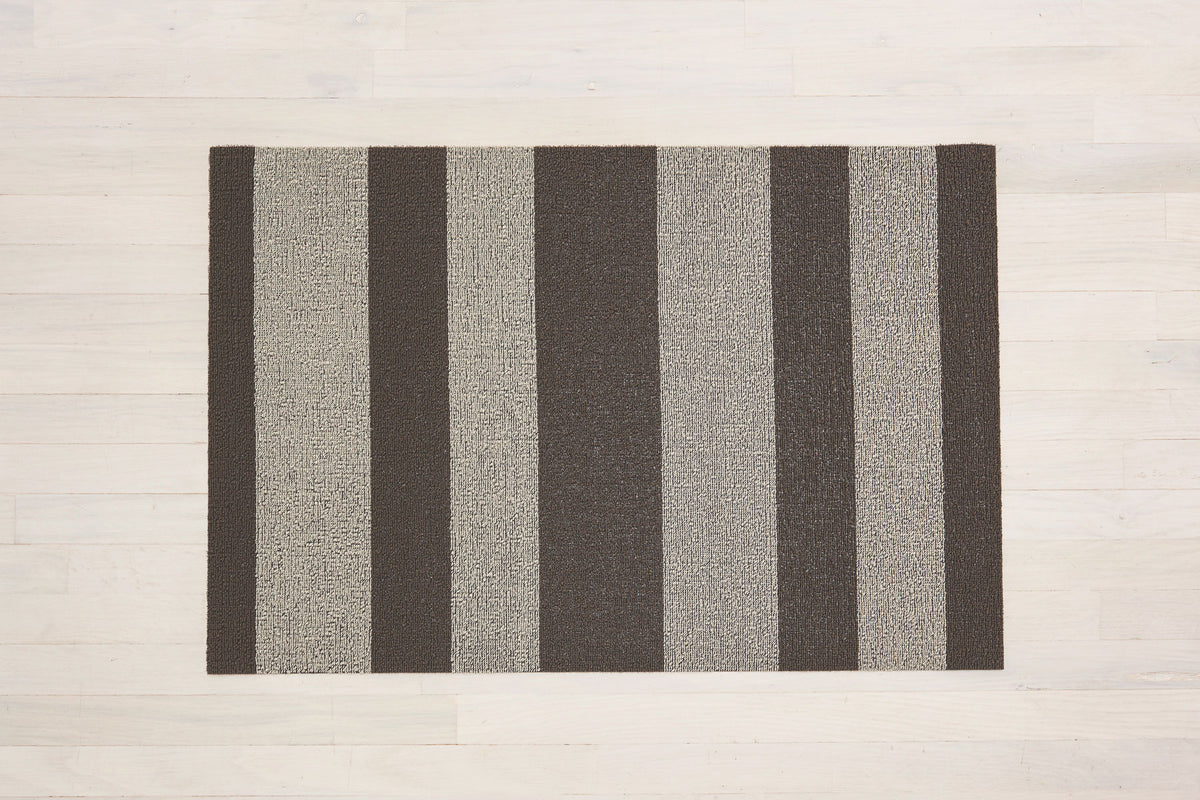Shag Mat Bold Stripe Pebble