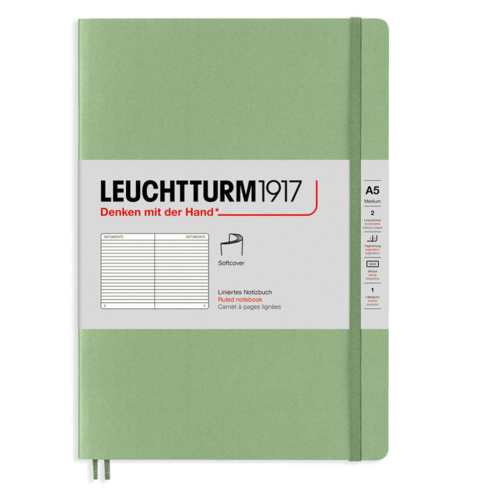 Leuchtturm Medium Softcover Notebook Ruled