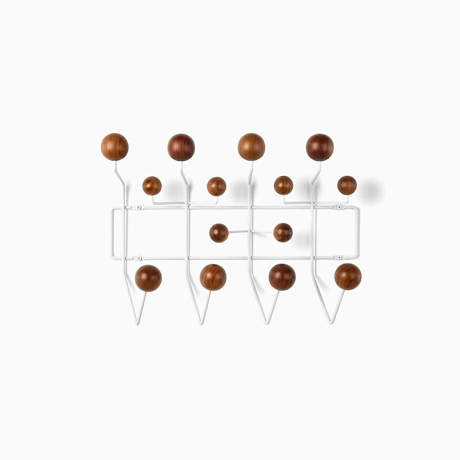 Eames Hang-It-All Walnut With White Frame