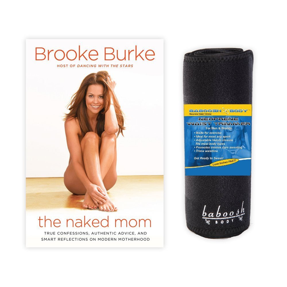 "Workout Bundle - Baboosh Body Unisex Exercise Wrap + Brooke Burke's Autographed Book "" The Naked Mom"""