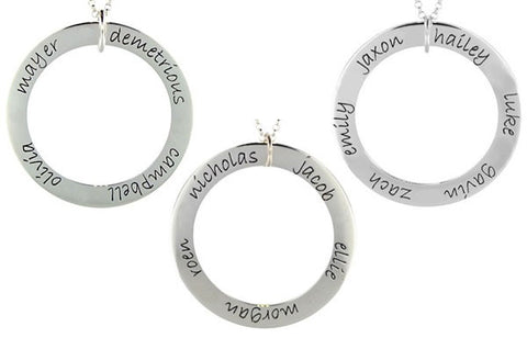 Mommy Sterling Silver Forever Loop (Customized with Childs' Names!)