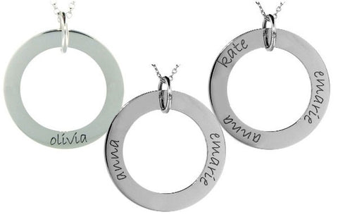 Mommy Wee Sterling Silver Loop (Customized with Childs' Names!)
