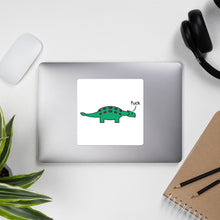 Load image into Gallery viewer, ankylosaurus saying fuck
