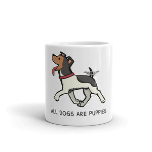 All dogs are puppies mug