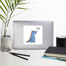 Load image into Gallery viewer, t-rex saying fuck - sticker